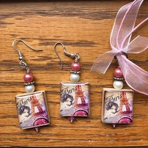Other - Handmade Paris Earrings and Necklace Set